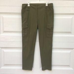 "Fashion Bug Pants 16W 37x29 11"" High Rise Green"